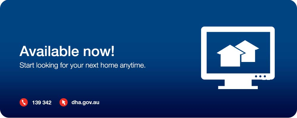 Online Services for Defence Members Banner - Start looking for your home anytime.