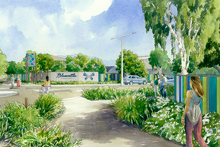 Artists impression of Bluewattle lifestyle